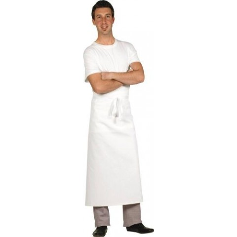 TABLIER CHEF LONG BLANC 90CM