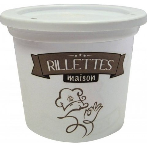 POT RILLETTES MAISON PP BLANC 12,5CL /250