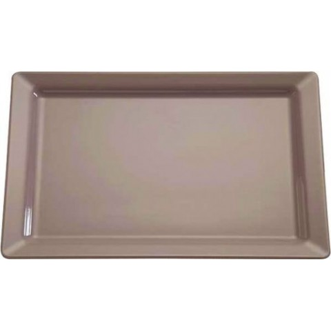 PLAT PURE COLOR TAUPE 35,5X18CM