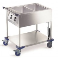 CHARIOT BAIN MARIE 2 CUVES GN1/1